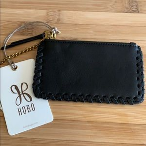 **NWT HOBO leather zip pouch black***